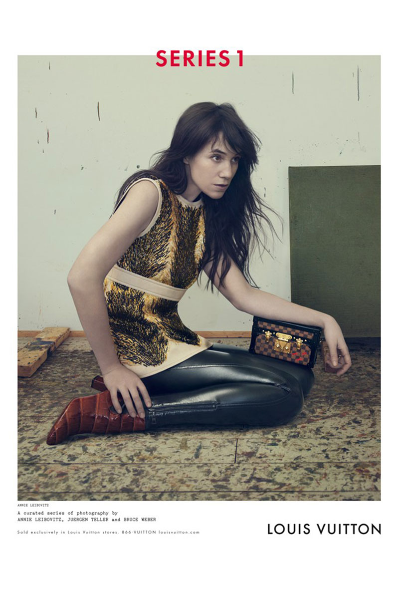 Louis Vuitton Model: Charlotte Gainsbourg Photographer: Annie Leibovitz Source: Louis Vuitton