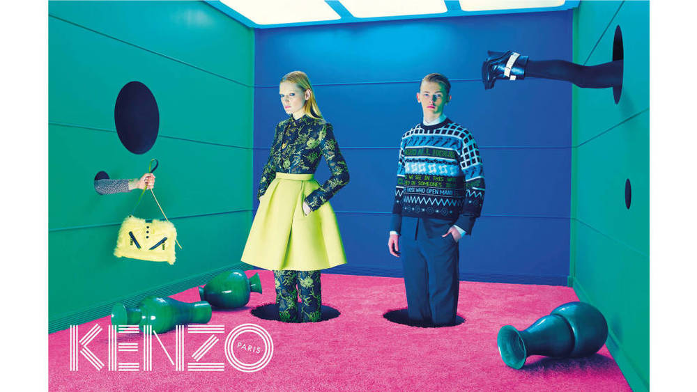 Kenzo Model: Guinevere van Seenus and Robert Mckinnon  Photographer Pierpaolo Ferrari  Source: Kenzo