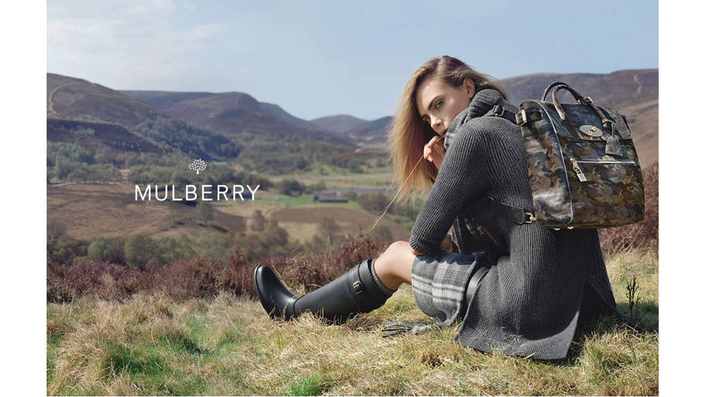 Mulberry Model:Cara Delevingne Photographer: Tim Walker Source: Mulberry