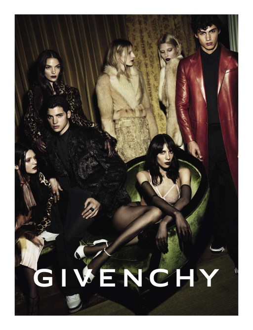 Givenchy Model: Kendall Jenner, Jamie Bouchert, Maria Carla Boscono Marcus, and Julia Nobis Photographer: Mert Alas and Marcus Piggott Source: Givenchy