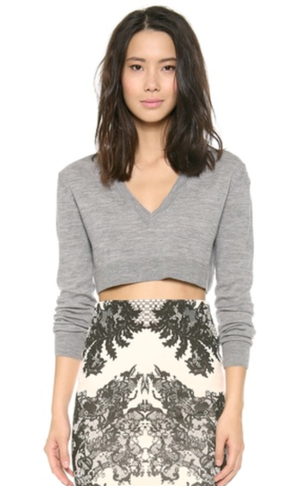 McQ - Alexander McQueen Layered V Neck Cropped Top • McQ by Alexander McQueen