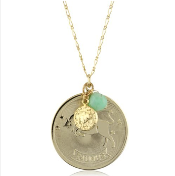 "a.v. max ""Horoscope"" Libra Coin and Teardrop Stone Pendant Necklace • A.V. Max • $70.00"