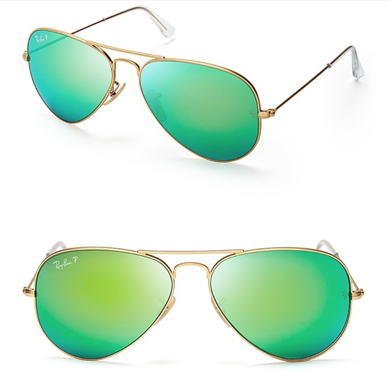 Ray-Ban Mirrored Matte Classic Aviator Sunglasses • Ray-Ban • $170.00