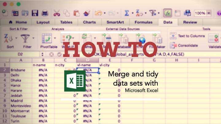 How to merge and tidy data with Excel — TTDATAVIS