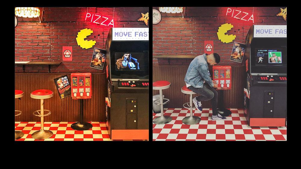 Facebook - Office Hallway Pizza Shop Photo Stop -