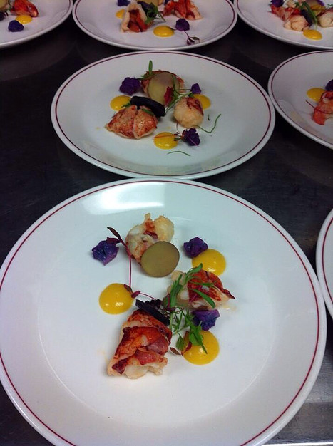 A lobster plate by chef Doreen Prei