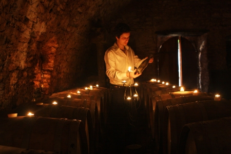 Miha Batic in his cellar