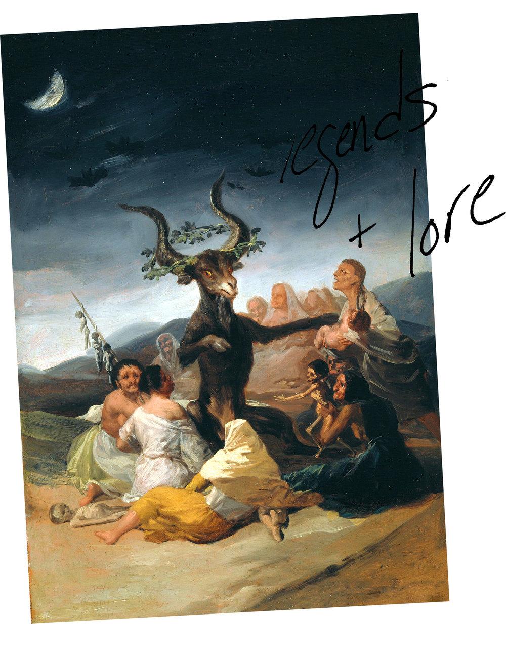 Francisco Goya,  Witches' Sabbath, 1798.