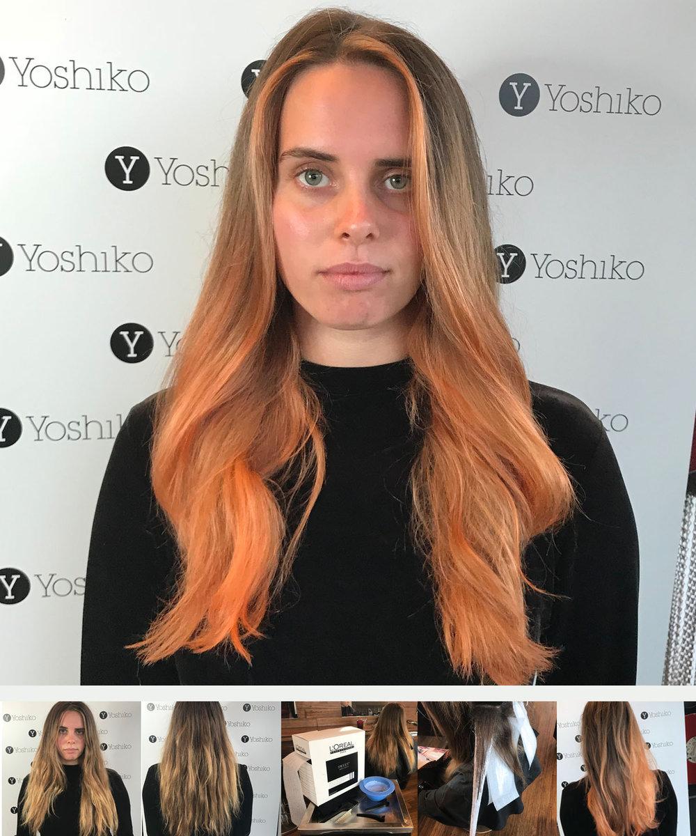 peach colour balayage_hair colour tendsmelbourne_st kilda hairdresser