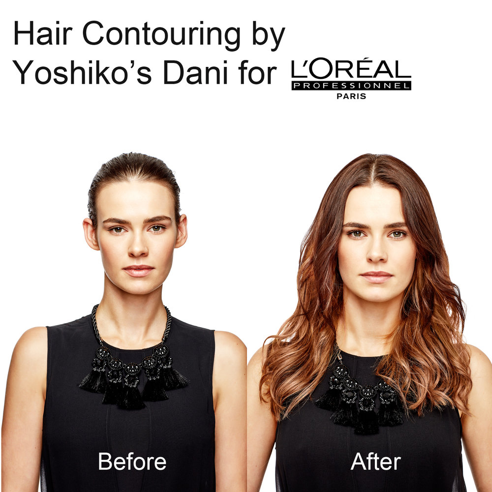 hair contouring at yoshiko hair for l'areal australia