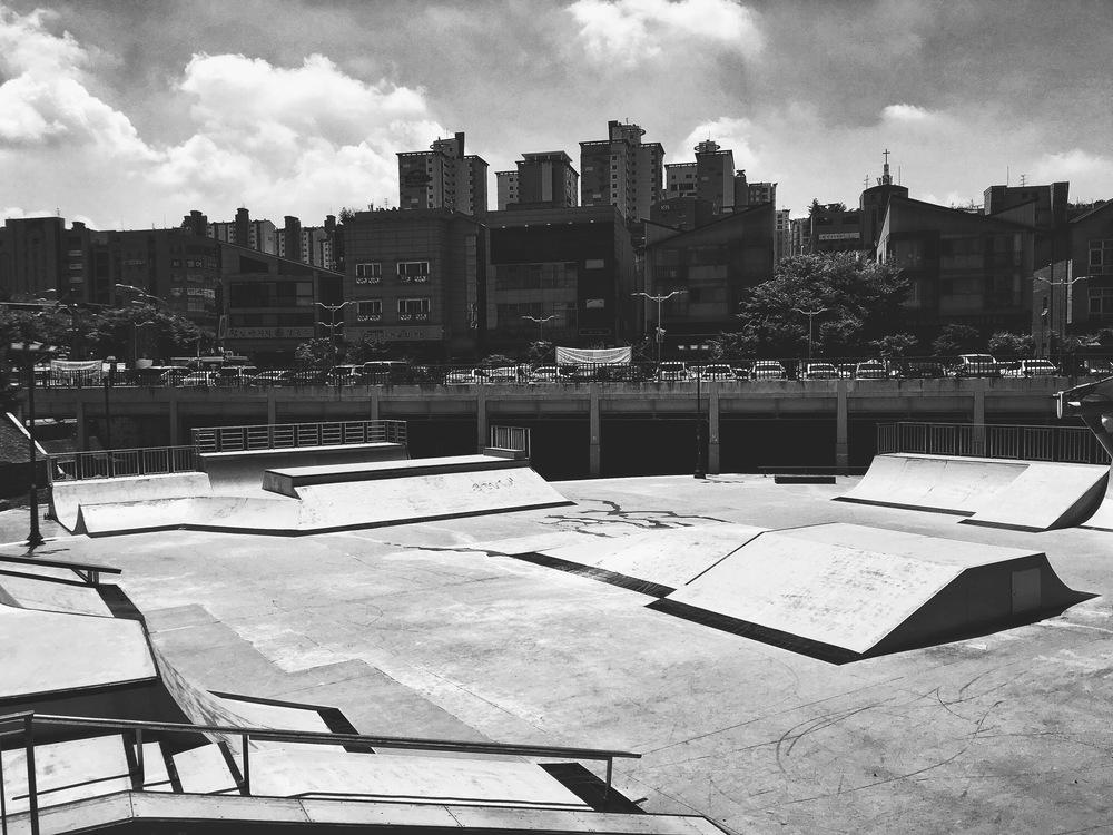 The skate park.
