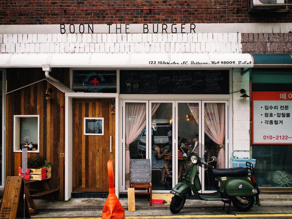 Seongan Maeul also has a burger joint.