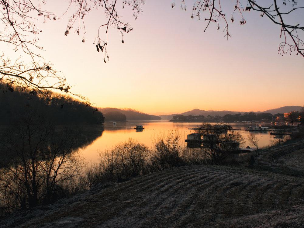 Sunrise at Gosam Reservoir