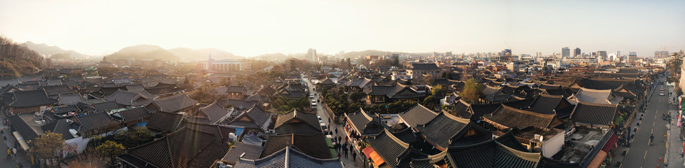 The view from Cafe 전망's terrace is stunning.
