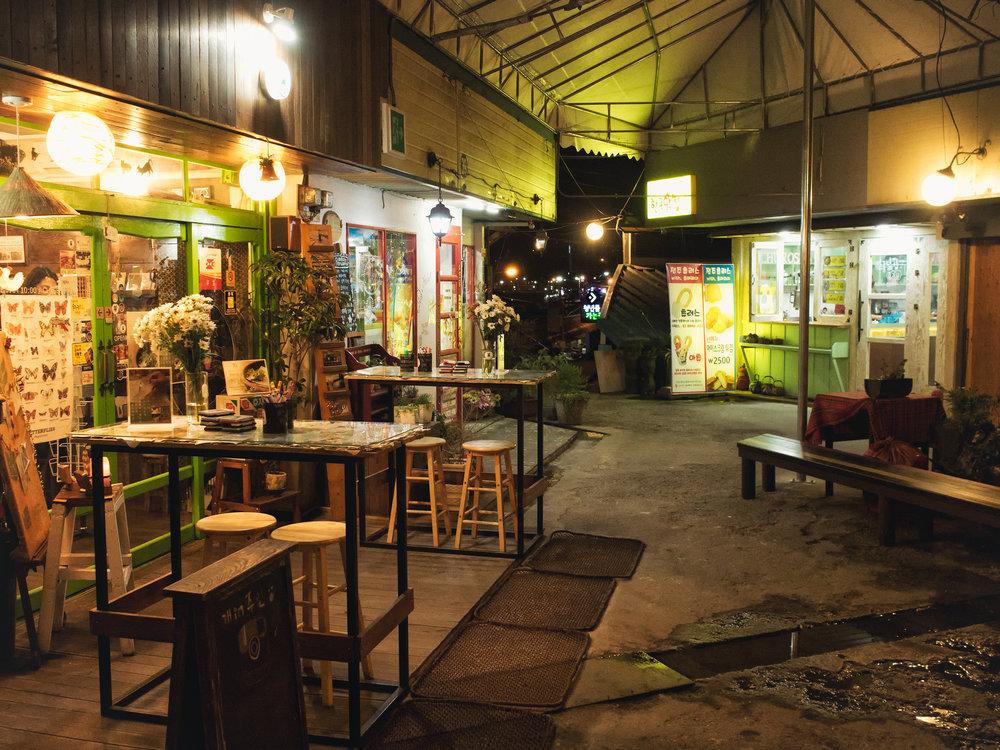 A few cafes.
