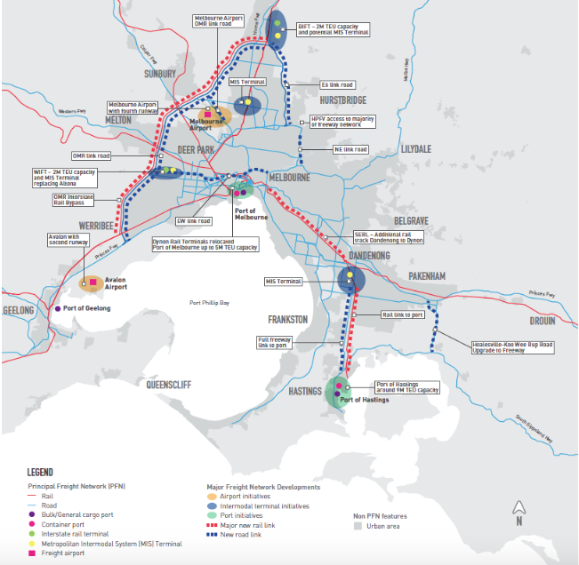 It looks good on paper according to the Government but the ring road as we know is incomplete and the Westgate is the link to the logistics yards and air freight.  The Rail and Road between Hastings and Dandenong have not been budgeted for and building the infrastructure takes time.  The heavy freight rail would need to go through Malvern & Toorak on already overworked commuter rail lines. The Monash would have to take all the extra trucks. It simply doesn't make sense.  The added costs per container would be around $220 per container and would make the business case an expensive failure.