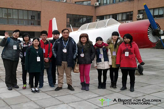 DREAM students explore aeroplanes of all shapes and sizes at AMECO Beijing!