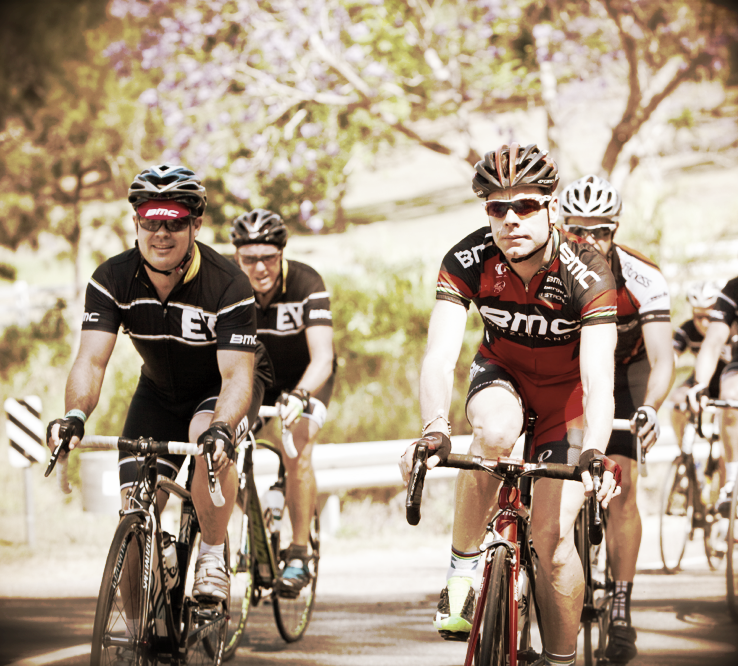 Ray takes a spin with Mr Cadel Evans