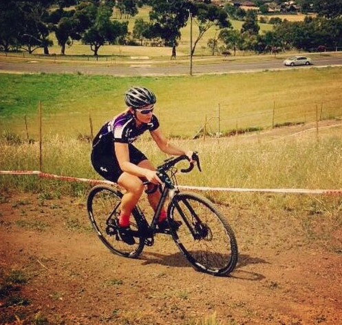 Racing at FOJCX @ Essendon Fields.  Final race of the series (Oct '14)
