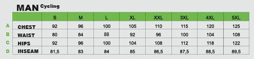 Stelf size chart