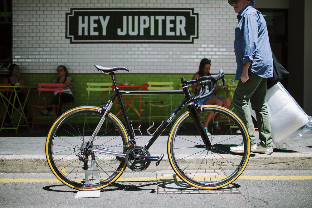 "The ""Lugo"" frame poses at the Treadly Bike Shop Maker festival. Photo: soupboys.cc"