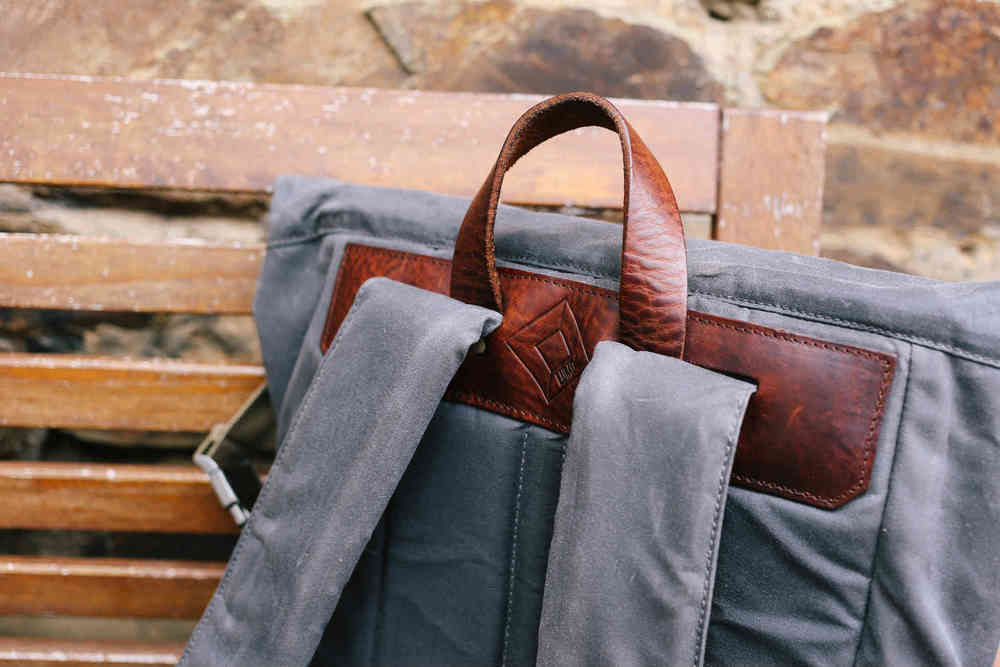 Stylish leather, cool canvas, and invisible LEDs make for one handsome bag.