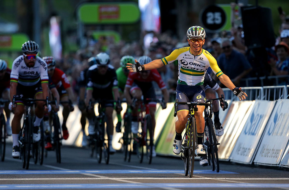 ORICA-SCOTT rider and Australian Champion Caleb Ewan wins the People's Choice Classic