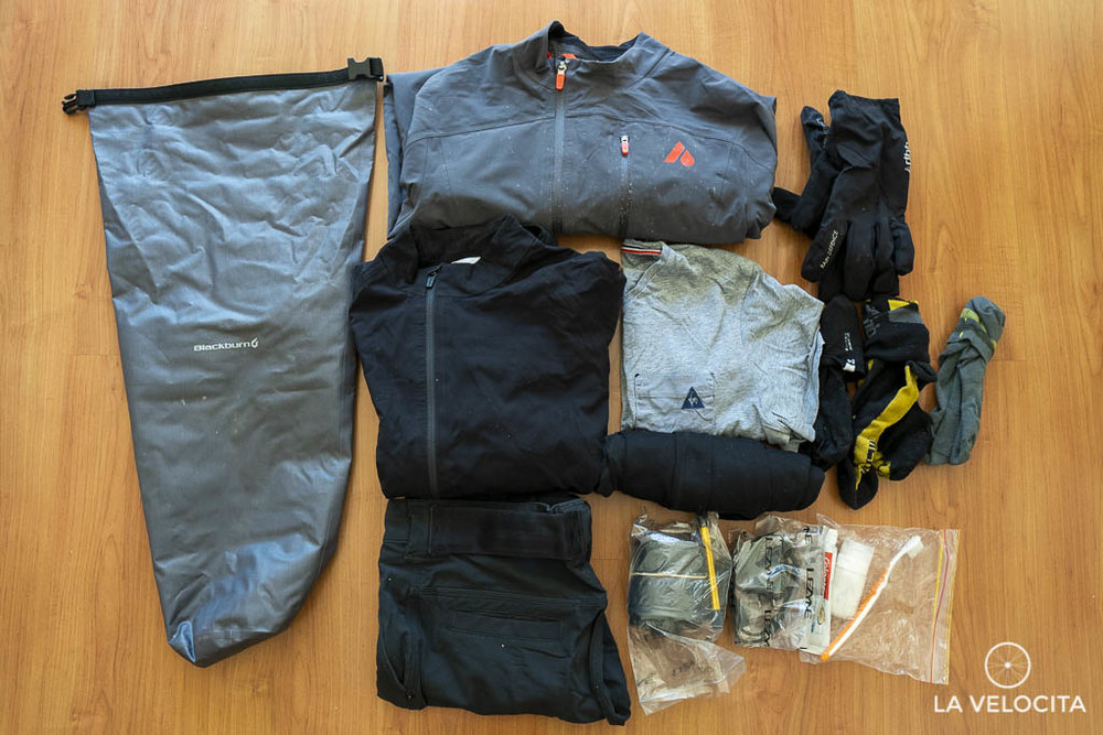 Spare clothes and a few small items easily fit into the dry bag with room to spare