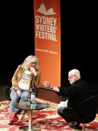 Photo: DAVID WALSH AND PHILLIP ADAMS (IMAGES THANKS TO SYDNEY WRITERS' FESTIVAL AND PHOTOGRAPHER PRUDENCE UPTON)