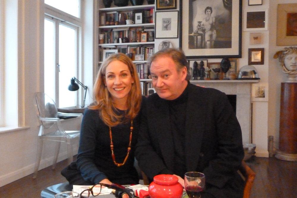 Emilya with art collector James Birch