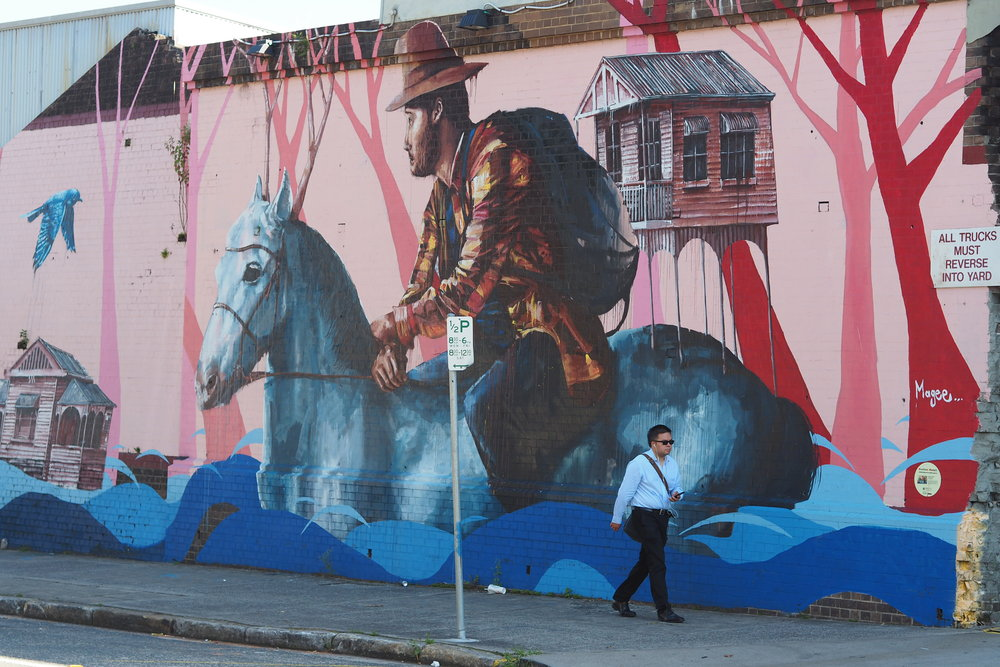 Fintan Magee's  'The Settler' , Marrickville