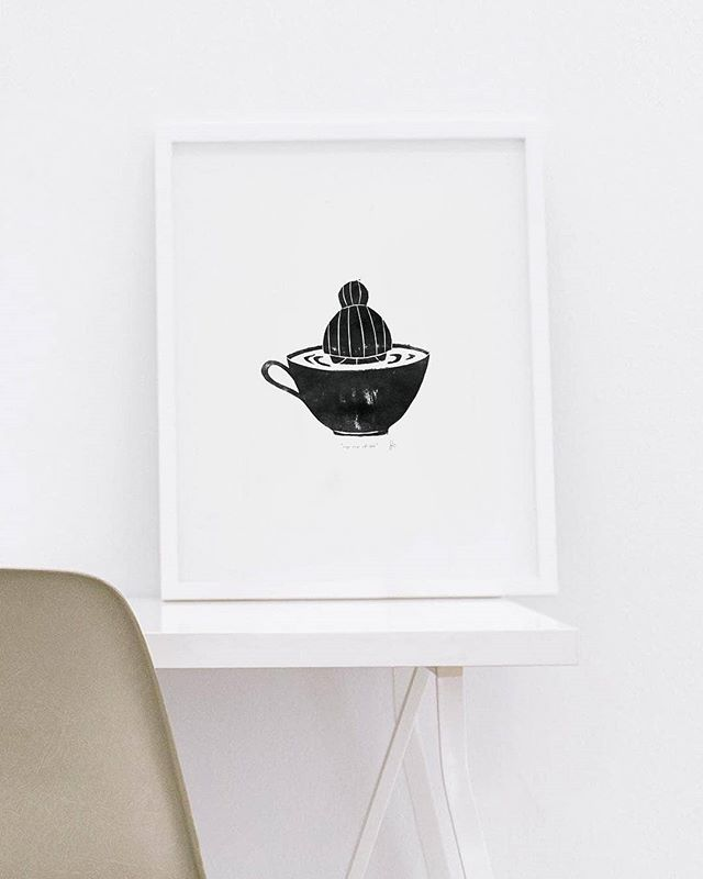 Sunday calls for cup of tea with handcrafted artwork by @inhideandseek. Available on @ArtPharmacy online.