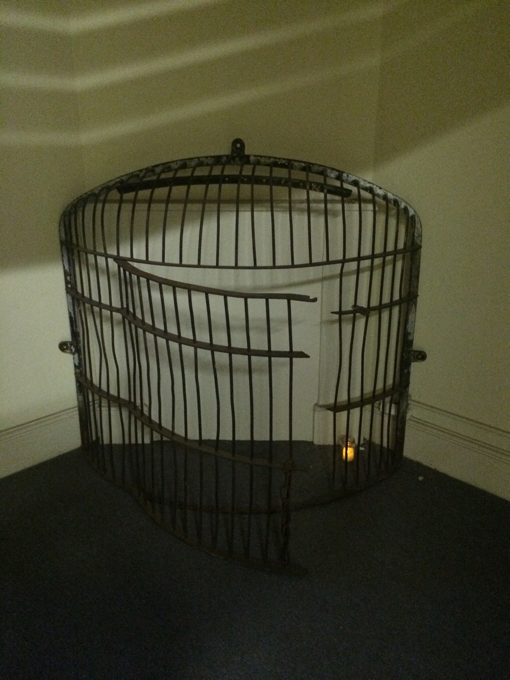 Caged   2015  cage, candle
