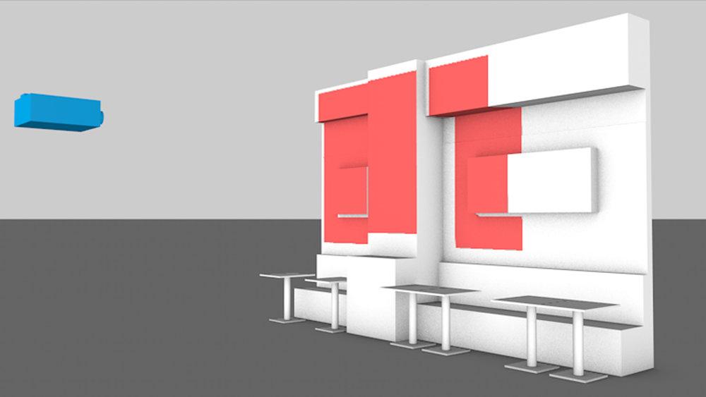 プロジェクションマッピング シミュレーション画面