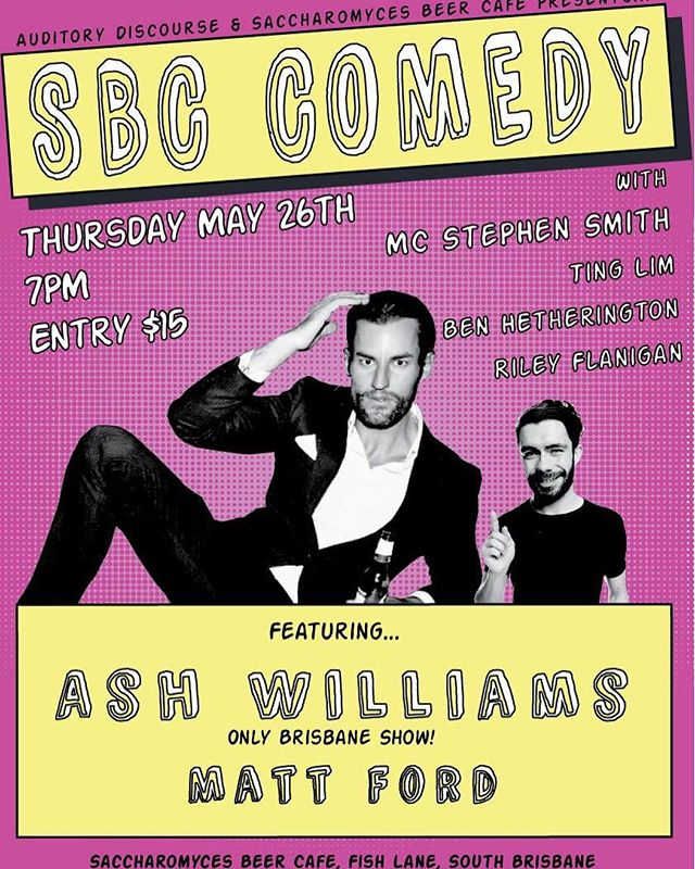 Back next week with an exclusive extended set from total legend @ashwilliams1 at his only Brisbane show! Get in! #ashwilliamslive #sbccomedy #brisbanecomedy #fishlaneprecinct