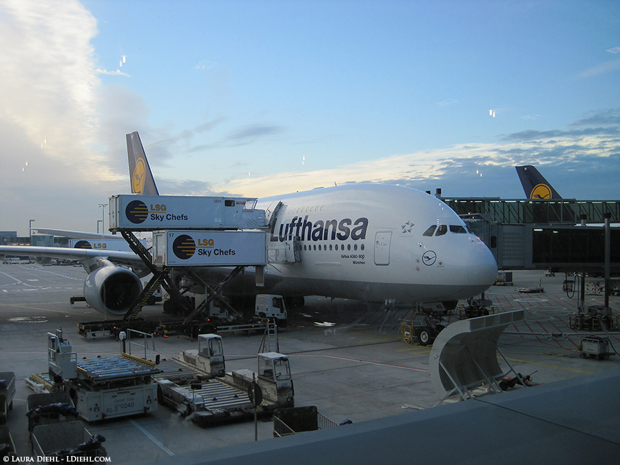 Lufthansa Plane, view from Frankfurt Airport