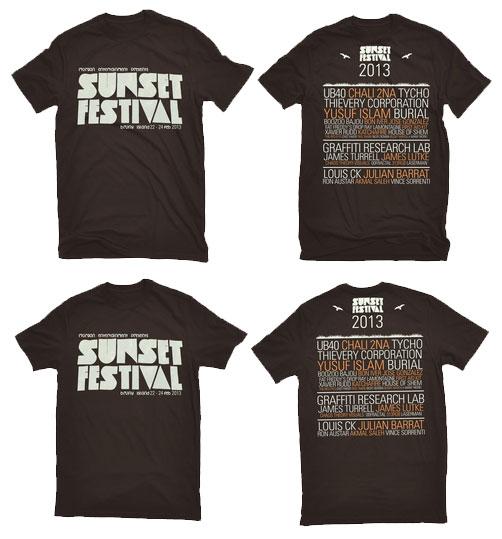 Sunset Festival Print Web Motion Chris Morgan Design