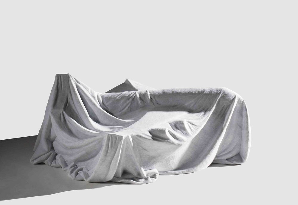 I Wish I Could Fly_Plane , 2008, white marble, 30x45x62cm.