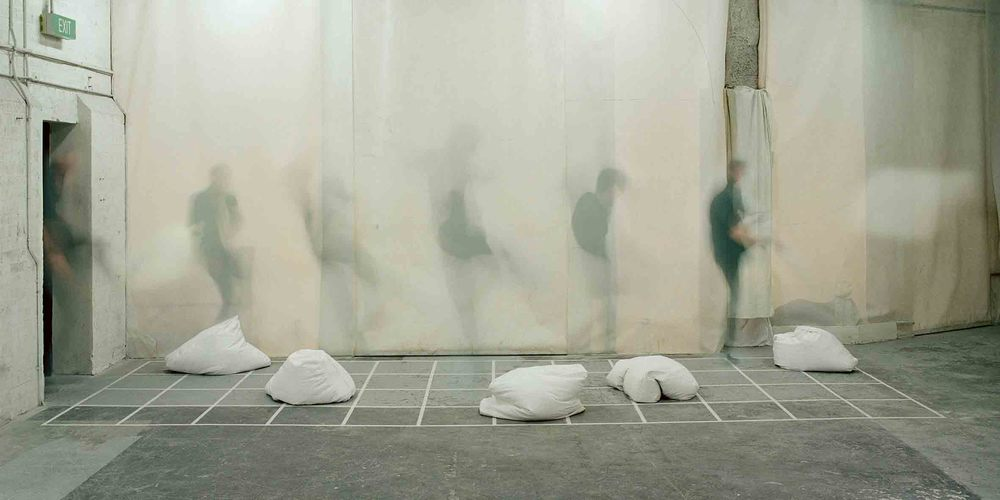 The Bean Bag Suite,  2004, Bianco marble, 90x55x14cm.