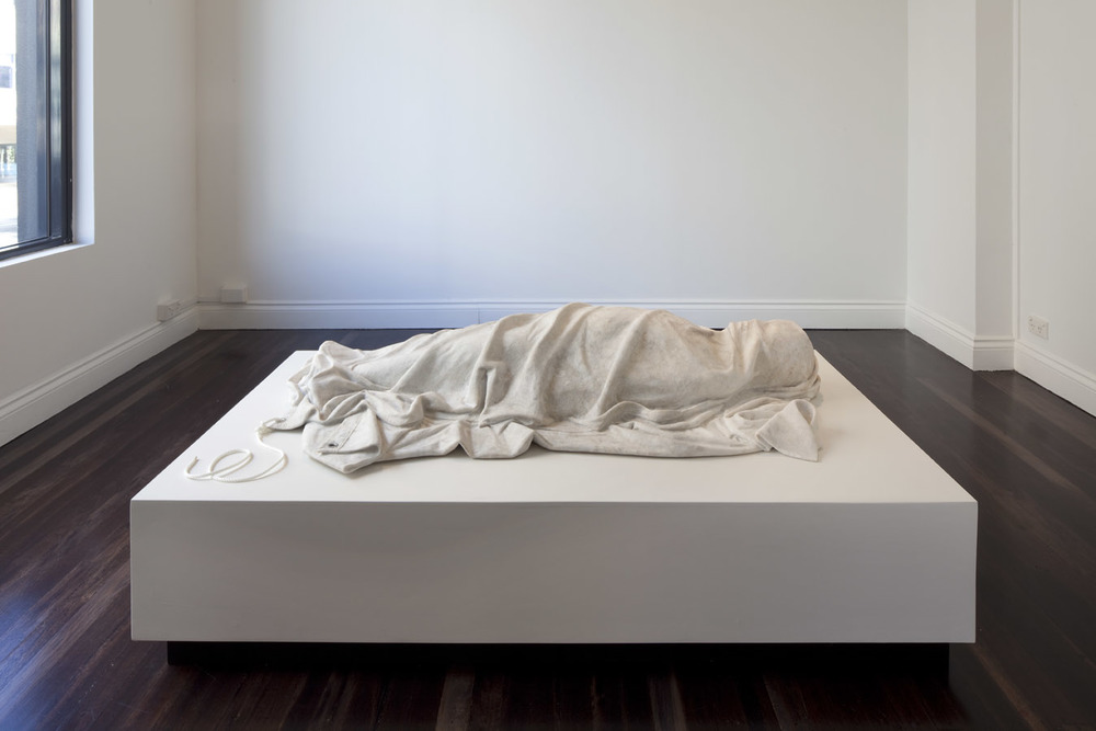 My Concerns will Outlive Yours  2011, Wombeyan marble, eyelet, 28 x 155 x 75 cm