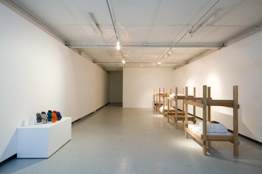 Installation view,  Memoid , 2008, Chalk Horse. Photo by Silversalt.
