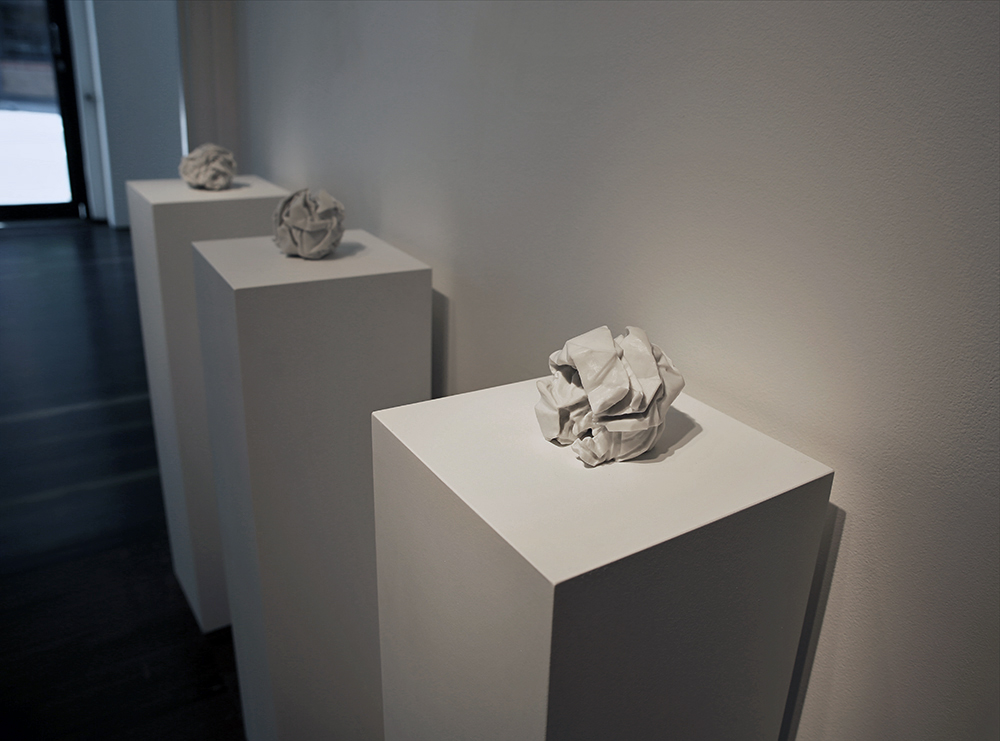 Draft (A3)  2013, Bianco Marble, Edition of 3 with variations, 13 x 13 x 13 cm