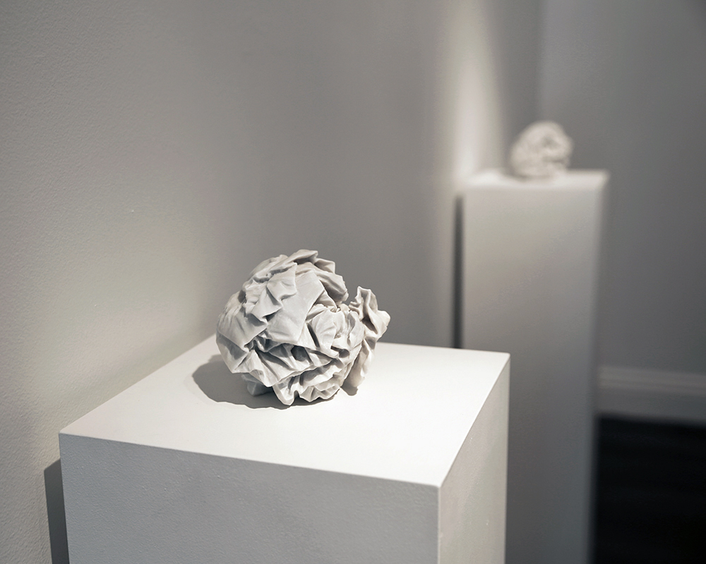 Draft (A2)  2013, Bianco Marble, Edition of 2 with variations, 13 x 13 x 13 cm (detail)