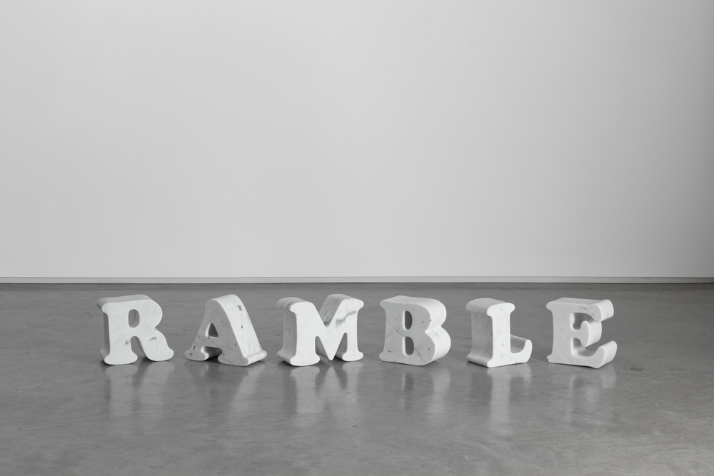 Marble Ramble 2013, Bianco Carrara marble, dimensions variable