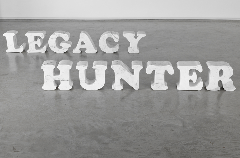 Legacy Hunter 2013, Bianco Carrara marble, dimensions variable