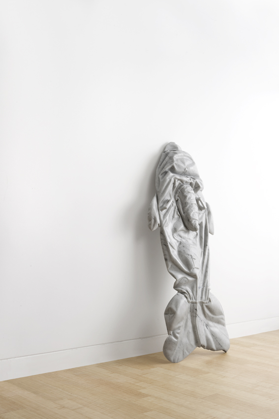 That Accursed White Whale  2010, Bianco marble, 155 x 68 x 12 cm