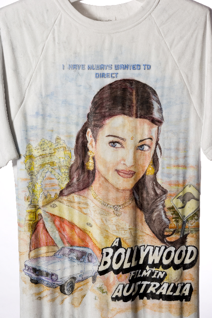 I Always Wanted to Direct a Bollywood Film  2009, Bianca marble watercolour and stainless steel, 80 x 56 x 8 cm