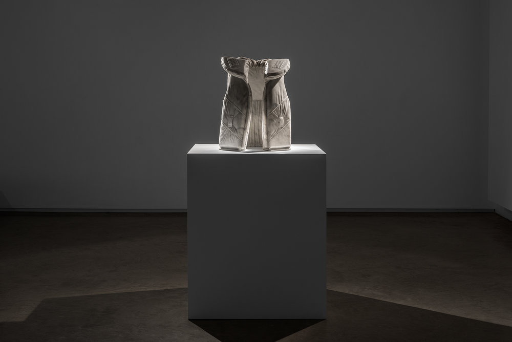 Life Vest M (Emergency)   2014   Bianco marble  54 x 40 x 30 cm