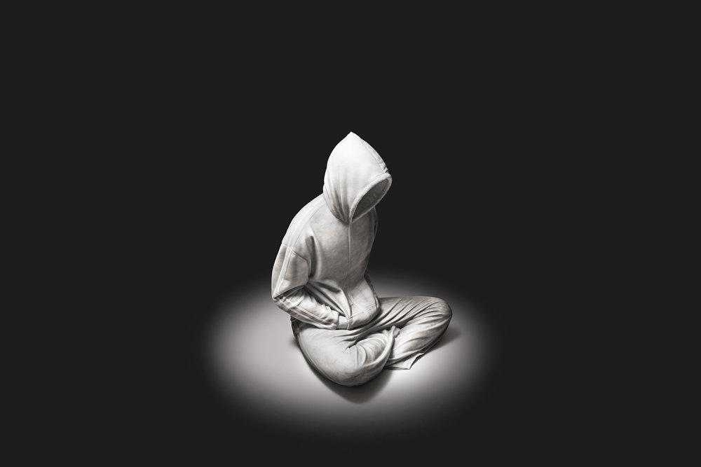 Chorus 1 2012, Bianco Carrara marble, stainless steel, 80 x 55 x 15cm