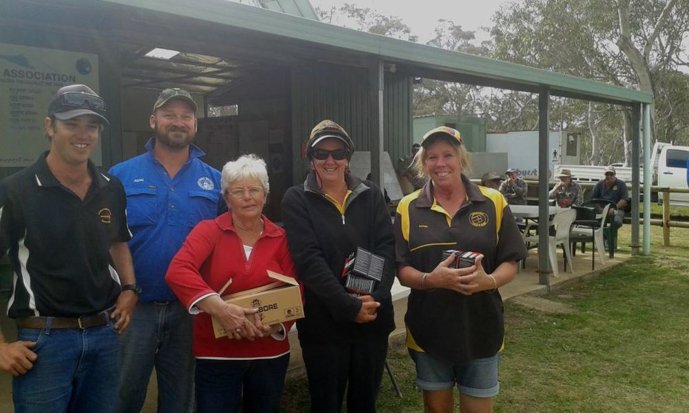 Happy ladies winners for the day Marg, Jan and Barbie
